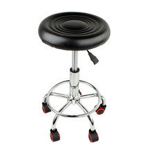5 Rolls Leather Stool Height Adjustable Bar Chair Work Rotating Chair Swivel Stool Adjustable Bar Stools Swivel Banqueta