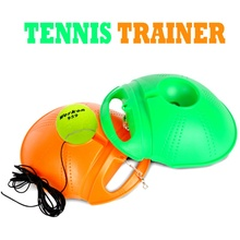 2 Color Rebound Trainer Set Training Aids Practice Partner Equipment Tennis Training Partner for Beginner Updated 2017(China)