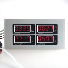 AC 80-260V 100A 4 in 1 Digital Voltmeter Ammeter Power Energy Meter Gauge with AC current transformer(China)