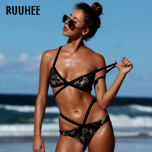 RUUHEE Bikini Swimwear Swimsuit Bathing Suit Women 2017 Sexy Lace Bikini Set Push Up Maillot De Bain Femme Beach Bandage Biquini