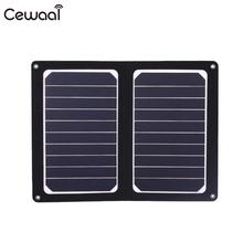 Cewaal Foldable Monocrystalline silicon Solar Panel Module DIY Cell Phone Battery Charger Board 6V 10W Portable