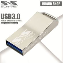 Suntrsi Pendrive 64GB USB 3.0 High Speed Metal USB Flash Drive 64GB Real Capacity Pendrive USB Stick Customized Flash Drive USB