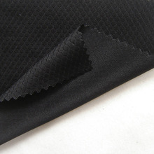 1 Yard Brazil Football T-Shirt White Network Fabric Hexagon High Quality Breathable Black Knit Sport Clothes Sewing Cloth Tissu(China)