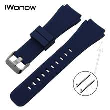 Quick Release Silicone Rubber Watchband 21mm 22mm Universal Watch Band Wrist Strap Bracelet Black Brown Blue Green Red White