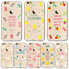 6/6S Soft TPU Case Cover For Apple iPhone 6 6S Cases Phone Shell Animal Fruit Ice Cream Making Life Taste Alittle Sweetr
