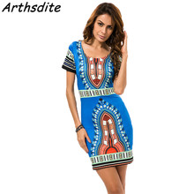 Buy Arthsdite Dashiki Summer Dress Print Beach Vintage Sexy Female Vestidos De Festa Casual Ladies Clothing Women Robe Party Dresses for $9.82 in AliExpress store