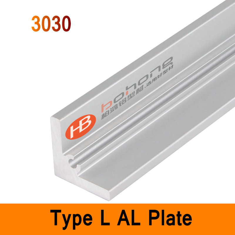 3030 Type L Aluminium Profile Long Angle Plate EN Standard DIY Brackets AL 3D DIY Printer Frame Metal Connector Sheet Workbench<br>
