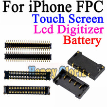 2pcs/lot New High Quality For iphone 4G 4S 5G 5S 5C  LCD Display Touch Screen Digitizer Battery FPC Connector On Motherboard