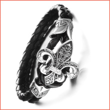 Trendy Genuine Leather Bracelet men,Korea Style Punk Rock Star Bracelets Bangles,Charm Braclets for Women Men Jewelry