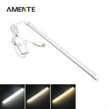 Switch Control 3 Colors LED USB Bar Light Rigid Strip Light 35CM LED Night Light Children Learning Lamp Bulb Nature Warm White