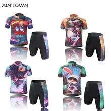 Children Cycling Clothing Boys Girls Bike Jersey Shorts Sets Team Bicycle ciclismo Kids mtb Shirts Top Suits(China)