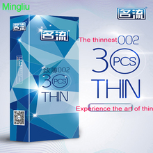 Buy MingLiu 30PC/lot ultra thin condoms man 002 penis rings Preservativo condom reusable kondom safer contraception Sex products