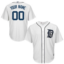 MLB Youth Detroit Tigers Baseball White Custom Cool Base Jersey(China)