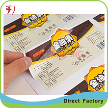 Direct manufacture customized waterproof strong adhesive perfume label