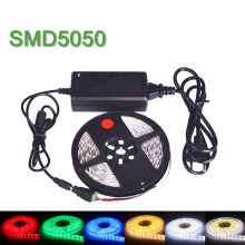 NEW LED Strip Light SMD 5050 Single Color Flexible LED Lamp 5m 60LEDs/m 5A DC12V Power Supply Non-Waterproof Christmas Lamps