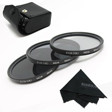 High Quanlity! 100% GUARANTEE RISE(UK) New Professional 58mm ND2 ND4 ND8 Filter kit MACRO for canon nikon sony pentax free ship(China)