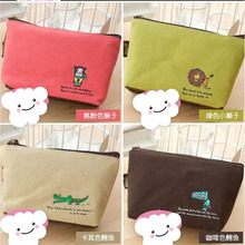 Cute Brand New Lovely  Print Canvas Hasp Coin Purses Fabric Wallet Women Small Zipper Pouch Kid Purse