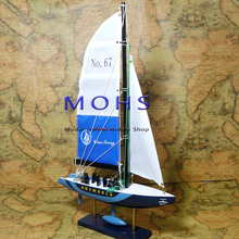 Free shipping 3 colors wooden sailing boat model wood small scale model lightning finished products do not need to assembly(China)