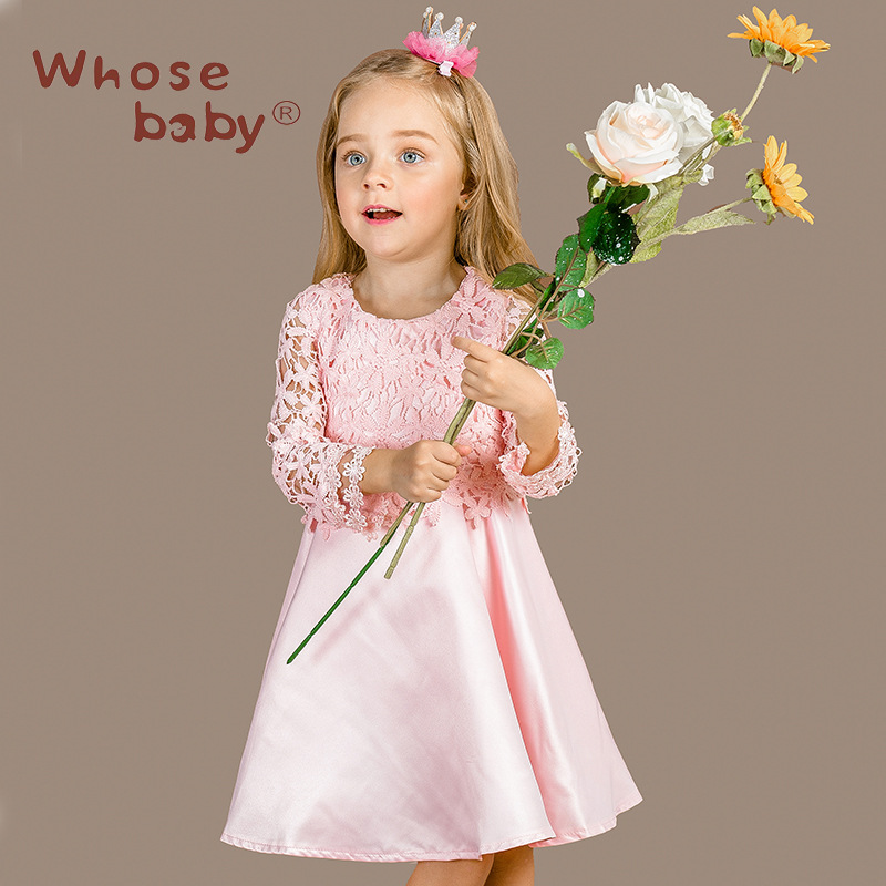 The girl new dress autumn for size 3 4 5 6 7 8 9 10 11 12 13 14 years child European wedding princess dress<br><br>Aliexpress