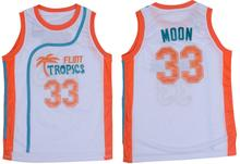 White Basketball Jerseys Cheap Sleeveless Throwback Basketball Jackie Moon #33 Flint Tropics Semi Pro Movie Vest all stitched