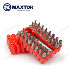 33PCS Maxtor Bit set Security Tamper Proof Bit Set professional hand tools set with high quality Material New arrived