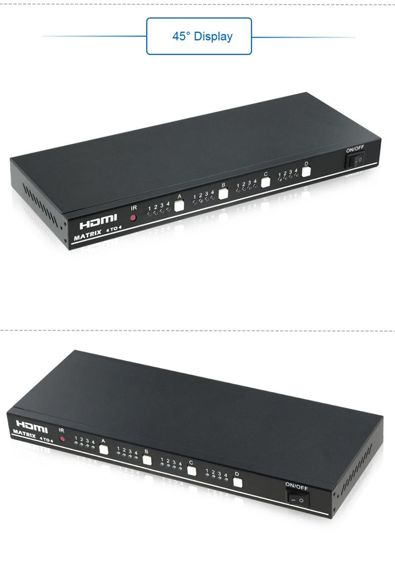 EMK 4x4 HDMI True Matrix 4 input 4 output HDMI Switch Splitter 1.3b support 1920x1080 60Hz with RS232 Remote Control Switch (1)