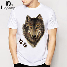 2016 new fashion summer men's t shirt Wolves Animal 3D T Shirt Harajuku short sleeve o-neck Casual boy lovely tees funny tops