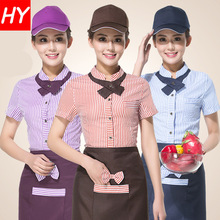 2017 Women Chef Uniform Uniform Sale Cotton The New Hotel Waiter Fast Food Hotpot Restaurant Catering Industry Tie Coat + Apron