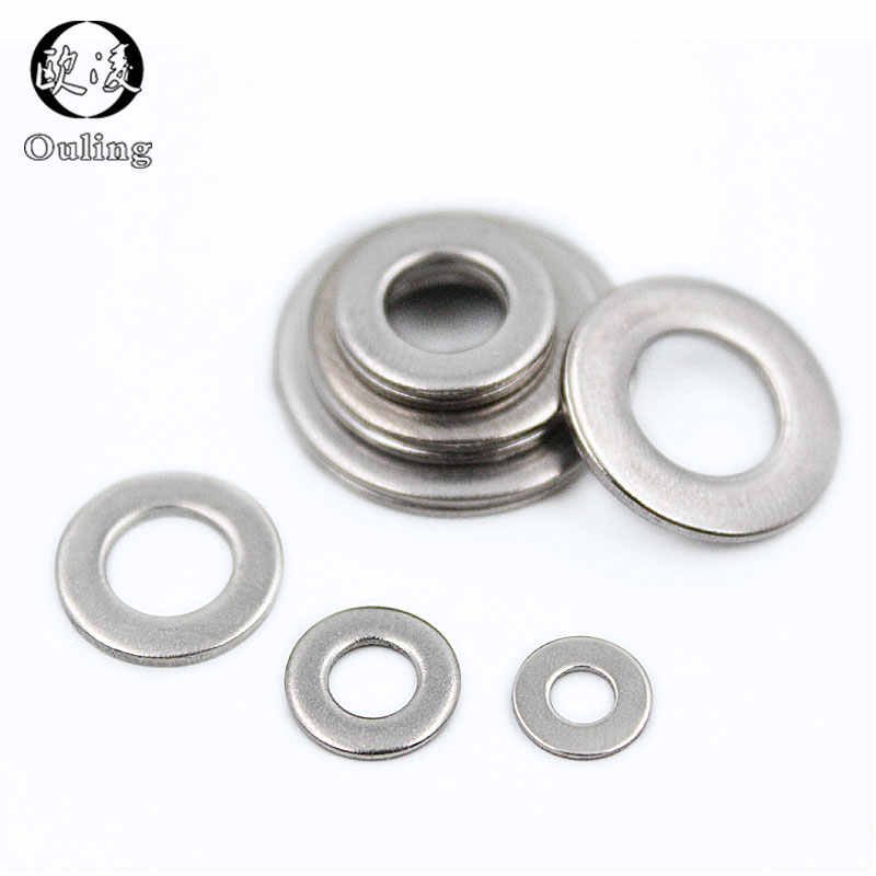 M2,2.5,3,4,5,6,8,10~24 Solid Brass Flat Washer Spacer Metal Gasket Ring Sealings
