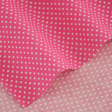 Pink Cotton Fabric Patchwork Little White Dots Style Home Texitle Decoration Clothing Scrapbooking Sewing Dolls 2016 News Dress
