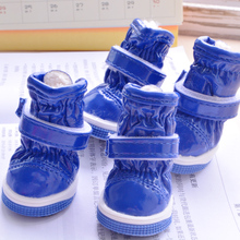 Waterproof Snow Boots Pet Shoes For Dogs Winter Warm Little Small Animals Puppy Foot Wear 4pcs/set Cat Outdoor Non Slip Products(China)
