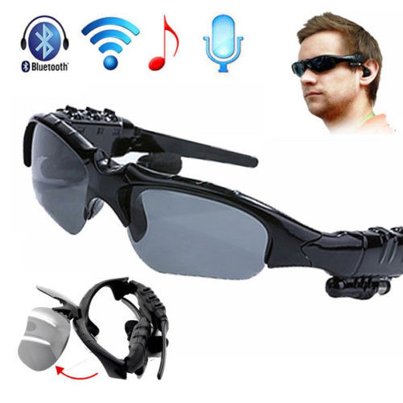 2017 Newest Fashion Sports Stereo Wireless Bluetooth Stereo Music Phone Call Hands Free Sunglasses Headset High Guality Freegift<br><br>Aliexpress