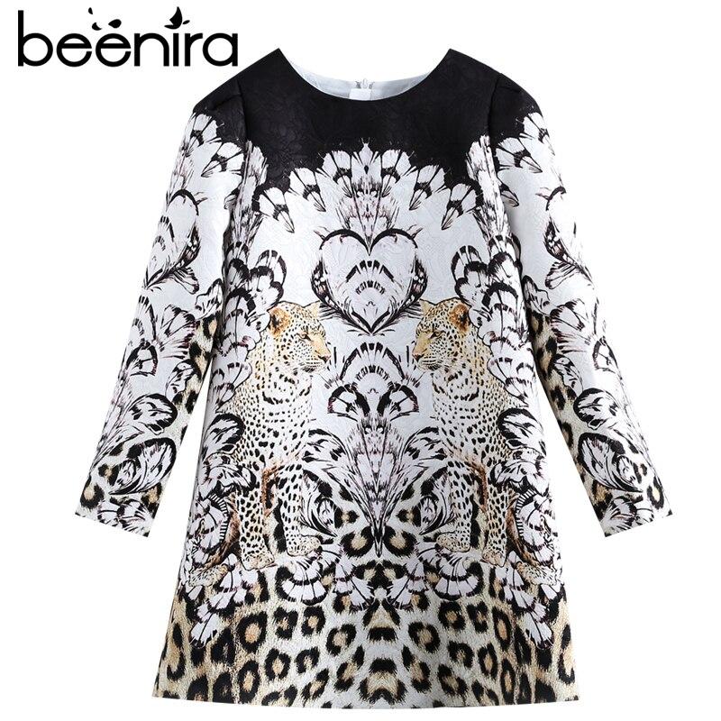 Beenira Children Winter Dress 2017 New Fashion Style Kids Long-Sleeve Animals Pattern Dress Design 3-14Y Exquisite Clothes Dress<br>