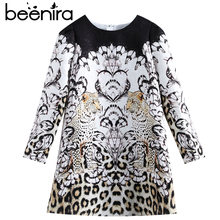 Beenira Children Winter Dress 2017 New Fashion Style Kids Long-Sleeve Animals Pattern Dress Design 3-14Y Exquisite Clothes Dress(China)