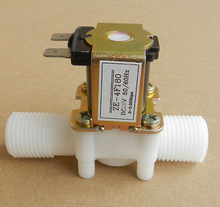 EBOWAN Plastic Solenoid Valve 12V 24V 220V Electric Magnetic Water Control Valve Switch Normally Closed 1/2''