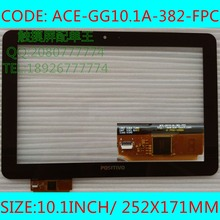 XY FPDC-0568A 10inch ACE-GG10.1A-382-Fpc 10.1inch capacitive touch screen panel  glass tablet pc touchscreen for iPS