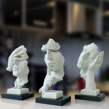 1pcs creative craft no speaking listiening abstract sculpture craft ornaments new house gifts office home decoration accessories