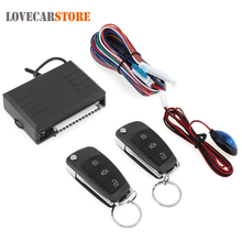 12V Auto Car Alarm System Vehicle Security Keyless Entry System with Remote Control & Door Lock Automatically for Toyota(China)