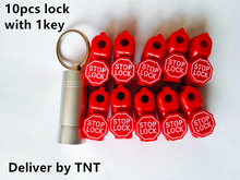 TNT delivery! 10pcs stoplock+1pcs magnetic detacher key EAS anti-theft stop lock for display security hook stem&peg stoplock(China)
