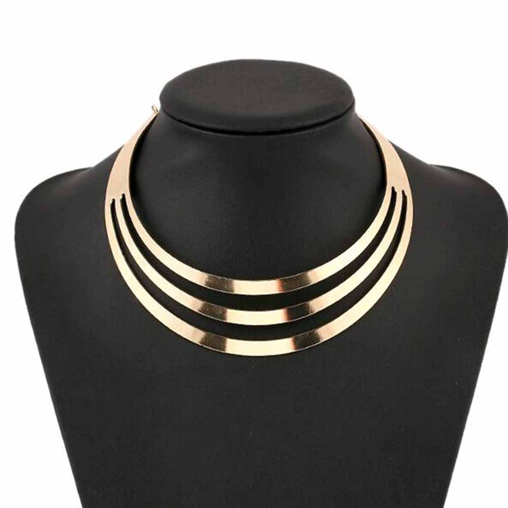 TOMTOSH 1pcs Necklaces Women Gorgeous Metal Multi Layer Statement Bib Collar Necklace Fashion Jewelry Accessories Hot Sale(China (Mainland))