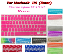 "US layout for macbook laptop Silicone laptop Keyboard Cover Skin sticker for MacBook Pro retina air 13"" 15"" 17"" inch"