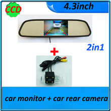 for BMW X3 X5 X6 E53 E70 E71 E72 E83 3 Series 326 327 328 330 335 E93 5 Series car rear view camera + 4.3inch TFT LCD Car mirror(China)