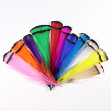 [50PCS] Lady Amherst Tippet Feather Natural White Red Yellow Pink Purple Green Color Fly Tying Fishing Streamer Intruder