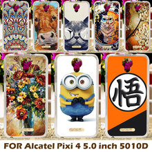 Case Cover For Alcatel OneTouch Pixi 4 Mobile Phone Cases OT-5010 5010D 5010X 5010S 5010U 5010A OT5010D 3G Hard Plastic Shell