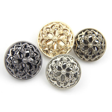 10pcs/lot Fashion metal shank buttons Metal button flowers for crafts Sewing buttons for overcoat (SS-583)(China)