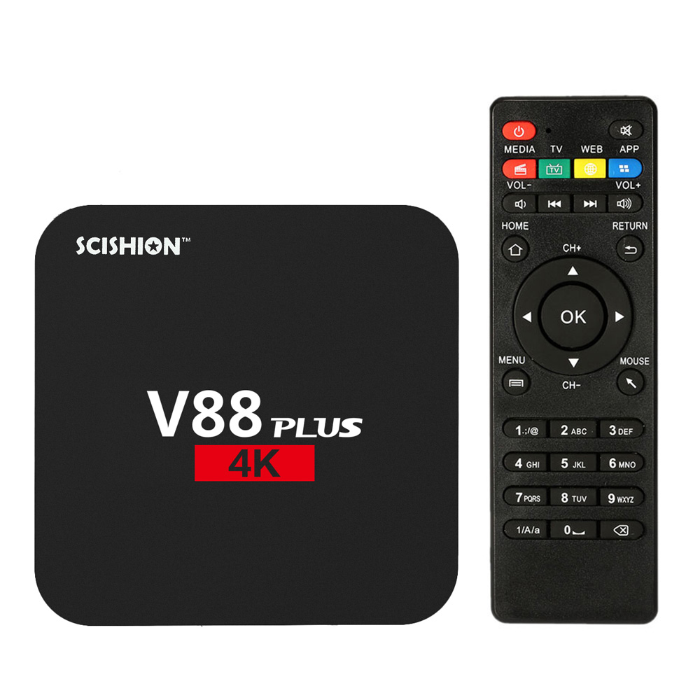V88 Plus Smart Android 6.0 TV Box RK3229 Quad Core UHD 4K 2G / 8G Mini PC WiFi H.265 Media Player EU/US/UK Plug(China (Mainland))