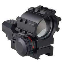 Tactical Holographic 4 Reticles Projected Red Laser Green Dot Reflex Sight Scope 20mm Picatinny Mount for Hunting Airsoft Guns