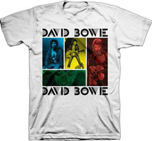 DAVID BOWIE Colored Squares T SHIRT  Brand New Official baseball shirt