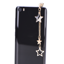 Star Design 3.5mm Tassels Dust Plug Earphone Jack Plug Headset Stopper Cap Cell Charms for Iphone