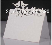 Free Shipping 2014 Hot Sale Love bird Table Name Place Cards Wedding Party Decoration Favor(China)